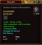 Tainted Armlet of Resolution