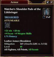 Watcher's Shoulder Pads of the Lifebringer
