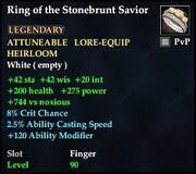Ring of the Stonebrunt Savior