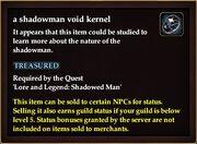 A shadowman void kernel