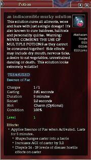 An indescernible murky solution (faerie)