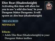 Dire Bear (Shadowknight)