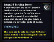 Emerald Scrying Stone