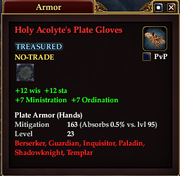 Holy Acolyte's Plate Gloves