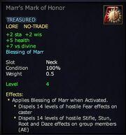Marr's Mark of Honor