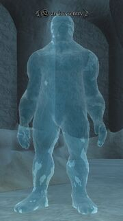 An ice sentry