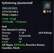 Splintering Quarterstaff