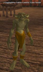 A Gigglegibber Goblin Gamblin' Game Vendor (North Qeynos)