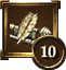 Achievement Icon quill pen 10