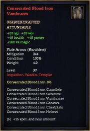 Consecrated Blood Iron Vambraces