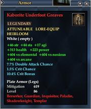 Kaborite Underfoot Greaves