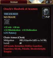 Oracle's Hauberk of Acumen