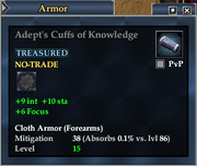 Adept's Cuffs of Knowledge