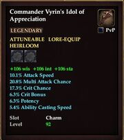 Commander Vyrins Idol of Appreciation