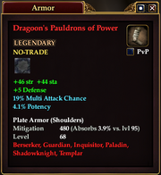 Dragoon's Pauldrons of Power