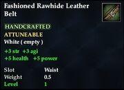 Fashioned Rawhide Leather Belt
