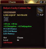 Fedya's Lucky Coldain Toe