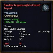 Shadow Juggernaught's Cursed Impact