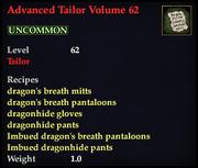 Advanced Tailor Volume 62