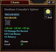 Studious Crusader's Sphere
