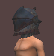 Heavy Horned Barbute (Equipped)