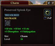 Preserved Spirok Eye