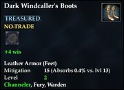 Dark Windcaller's Boots