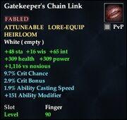 Gatekeeper's Chain Link