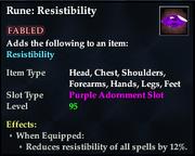 Rune- Resistibility