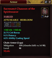 Sacrosanct Chausses of the Spiritweaver