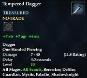 Tempered Dagger
