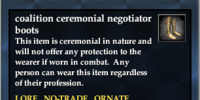 Coalition ceremonial negotiator boots