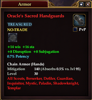 Oracle's Sacred Handguards