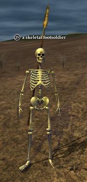 A skeletal footsoldier
