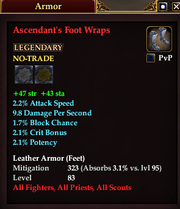 Ascendant's Foot Wraps