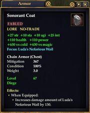 SonorantCoat