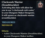 Clockwork Warrior (Swashbuckler)