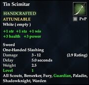 Tin Scimitar