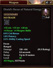 Druid's Focus of Natural Energy