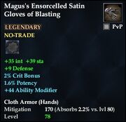 Magus's Ensorcelled Satin Gloves of Blasting