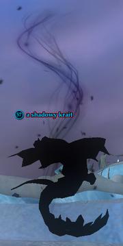 A shadowy krait