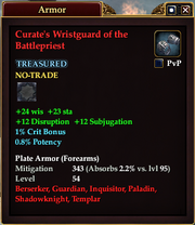 Curate's Wristguard of the Battlepriest
