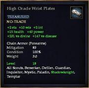 High Oracle Wrist Plates