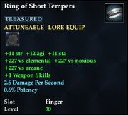 Ring of Short Tempers