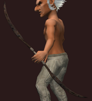 Oiled Bow of the Woodsman (Equipped)
