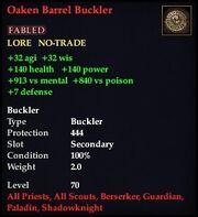 Oaken Barrel Buckler