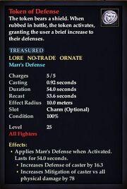Token of Defense