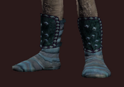 Untamed Wanderer's Leather Boots (Equipped)