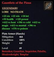 Gauntlets of the Pious