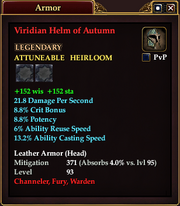 Viridian Helm of Autumn